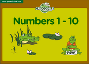 Numbers one to ten ESL Vocabulary Croc Board Game