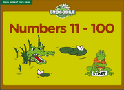 Numbers 1 – 100 Vocabulary Sentences ESL Vocabulary and Grammar Interactive Crocodile Board Game