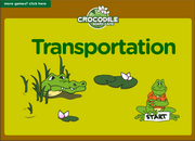 Transportation Vocabulary ESL Interactive Board Game