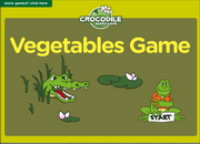ESL Vegetables Vocabulary Interactive Crocodile Board Game