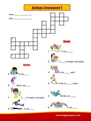 Actions Crossword