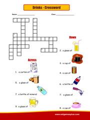 Drinks Crossword