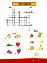 Fruits Crossword