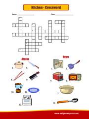 Kitchen Crossword