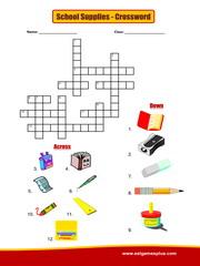School Supplies Crossword