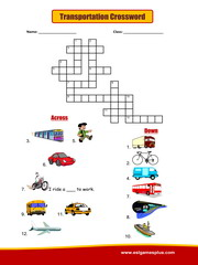 Transportation Crossword