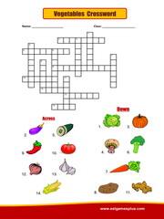 Vegetables Crossword