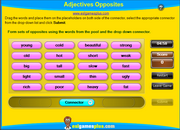 Practice Adjectives Opposites ESL Connector Matching Game