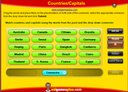 Countries and Capitals ESL Matching Game