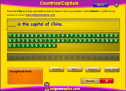 ESL Vocabulary, Countries, Capitals, Spelling Activity Online