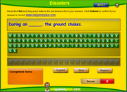 Disasters Vocabulary Spelling Activity Online for ESL