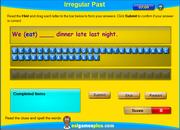 Irregular Past Tense Verbs Spelling Activity Online