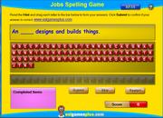 Jobs Vocabulary Spelling Exercise Online for ESL