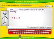 Practice Irregular Verbs in the Past Simple, ESL Interactive Hangman