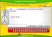 Practice Irregular Verbs in the Past Simple, ESL Interactive Hangman