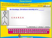 Places Around ESL Vocabulary Interactive Hangman Game