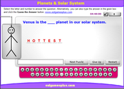 Practice Space, Planets, Solar System Vocabulary, Comparative, Superlatives Grammar ESL Hangman