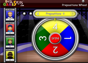 Preposition Review Wheel Game