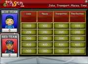 jobs, transportation, place, time game
