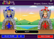 shapes, colors, sizes, vocabulary game
