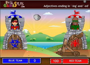Adjectives ing ed catapult game