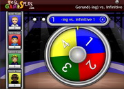 Ing gerunds infinitive spin game