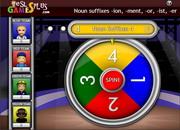 Noun suffixes spin game