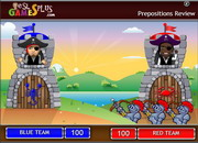 Prepositions review catapult game