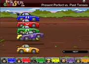 Present perfect vs past tenses rally game