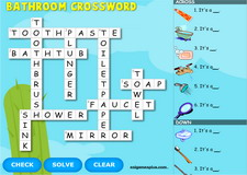 Bathroom Interactive Crossword