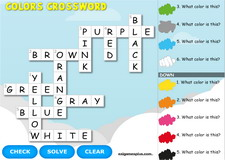 Colors Interactive Crossword