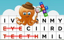 Body Parts Interactive Word Search