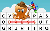 Clothes Interactive Word Search