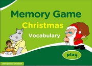 Christmas Vocabulary Memory Game for ESL