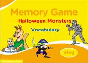 Halloween Costumes ESL Vocabulary Memory Game