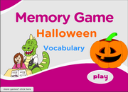 Halloween Vocabulary ESL Memory Game – Ghost, Mask, Pumpkin