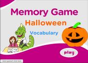 Halloween Vocabulary ESL Memory Game – Ghost, Mask, Pumpkin