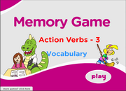 ESL Action Verbs Memory Vocabulary Games for Elementary ESL