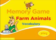 Farm Domestic Animals Vocabulary ESL Memory Game