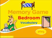 Bedroom ESL Vocabulary Memory Game