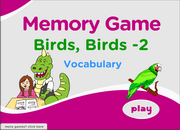 Vocabulary of Birds, ESL Bird Vocabulary Memory Game