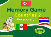 Countries ESL Vocabulary Memory Game with Flags – Medium