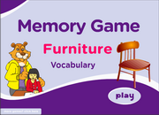 Furniture Vocabulary Memory Game for ESL Practice