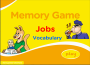 Jobs Vocabulary Memory Game for ESL, EFL Learning
