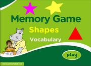 Practice Shapes Vocabulary ESL Memory Game – Elementary