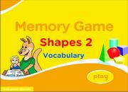 Shapes Vocabulary ESL Memory Game – Easy
