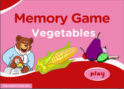 Vegetable Vocabulary Memory Game for ESL