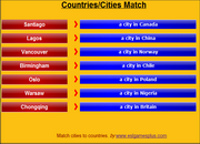 Countries, Cities, ESL Vocabulary Matching Game on Mobile – iPad, HTML5, Android