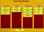 Food Classification ESL Vocabulary Matching Game on Mobile – iPad, HTML5, Android