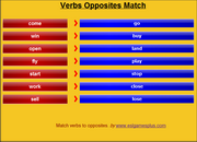 Verbs, Antonyms ESL Vocabulary Mobile Game – iPad, android or Mobile Devices